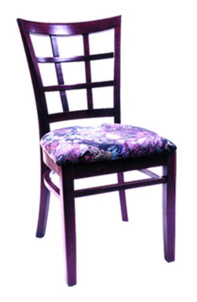 Vitro WLS200 Woodland Series Chair, Lattice Back, Upholstered Seat, Wood Frame