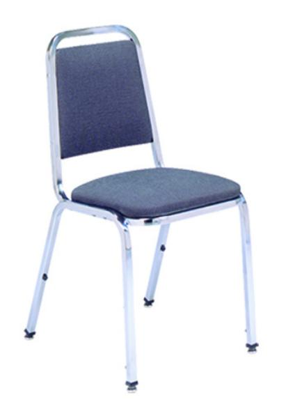 Vitro X10 Stacker Series Chair, Curved Back, 1 in Pulled Seat, Metal Frame