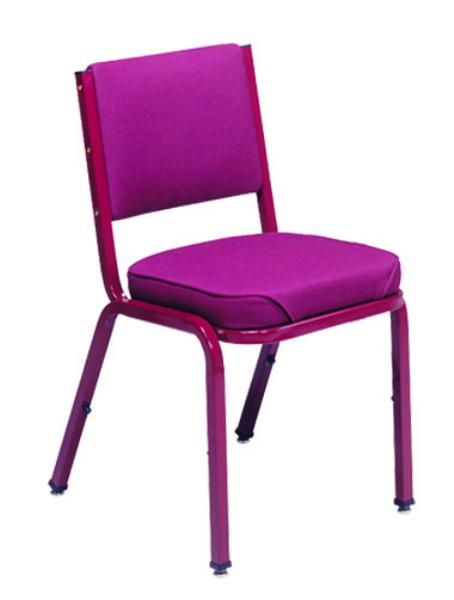 Vitro X43WF Stacker Series Chair, Curved Back, 2 in Waterfall Seat, Metal Frame