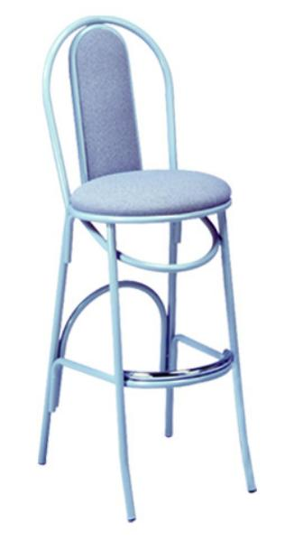 Vitro X54BS Parlor Upholstered Hairpin Bar Stool, 1 in Pulled Seat, Metal Paint Frame