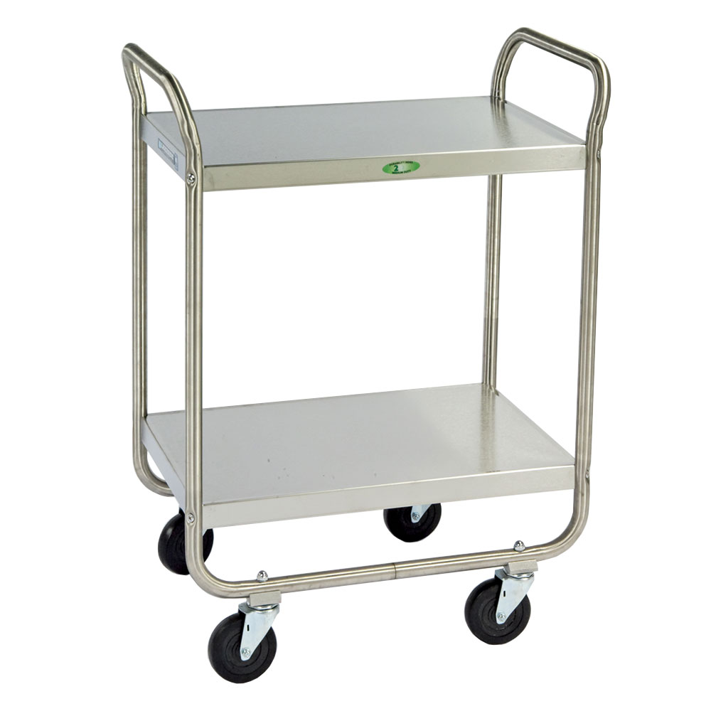 Lakeside 210 2-Shelf Utility Car w/ Push Handles, 500-lb Capacity