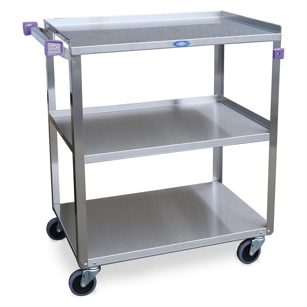 Lakeside 322 3-Shelf Utility Cart w/ Push Handle, 300-lb Capacity