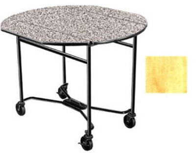 Lakeside 412 HRMAP 40-in Round Drop-Leaf Room Service Table, Hard Rock Maple