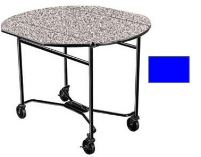 Lakeside 412 ROYBL 40-in Round Drop-Leaf Room Service Table, Royal Blue