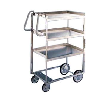 Lakeside 5925 3-Shelf Utility Cart w/ 2 Vertical Push Handles, 700-lb Capacity