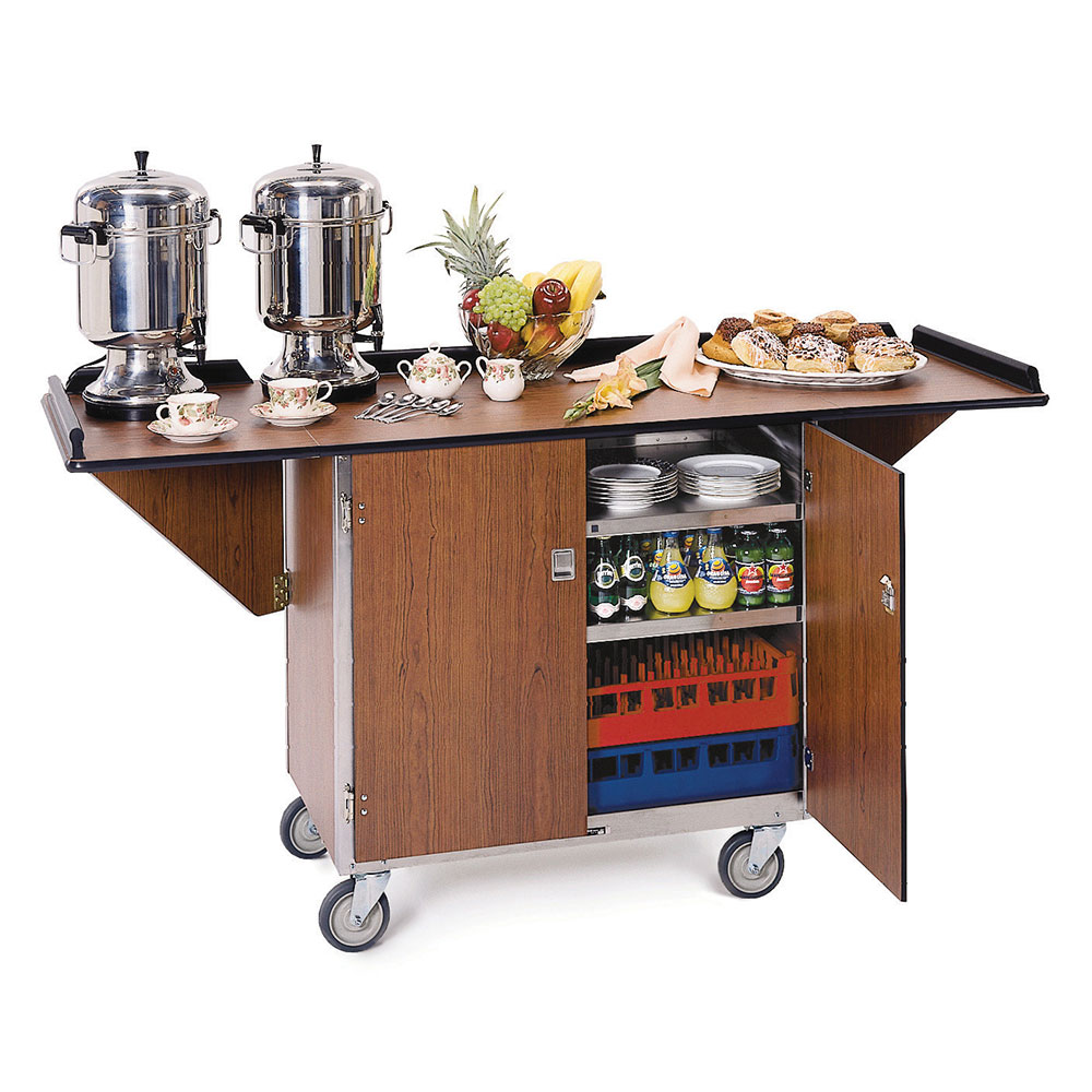 Lakeside 675 Beverage Service Cart w/ Dro