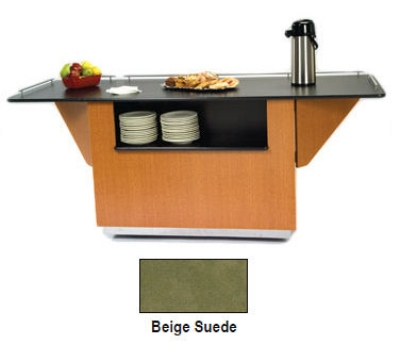Lakeside 6855 BEGSU 99-in Breakout Dining Station w/ 2-Compartment, Beige
