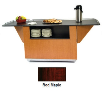Lakeside 6855 RMAP 99-in Breakout Dining Station w/ 2-Compartment, Red