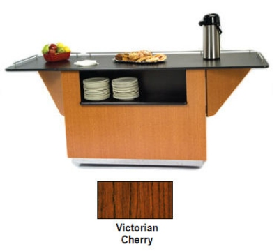 Lakeside 6855 VCHER 99-in Breakout Dining Station w/ 2-Compartment, Victorian Cherry