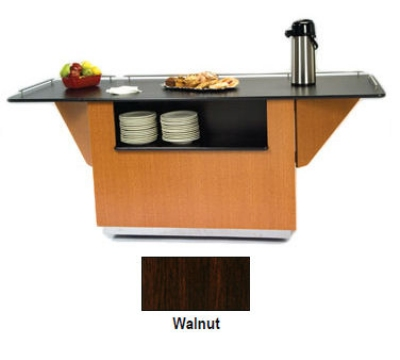 Lakeside 6855 WAL 99-in Breakout Dining Station w/ Drop Leaf & 2-Compartmen