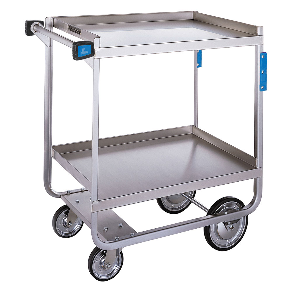 Lakeside 710 2-Shelf Open Base Utility Cart w/ Push Handle, 700-lb Capacity