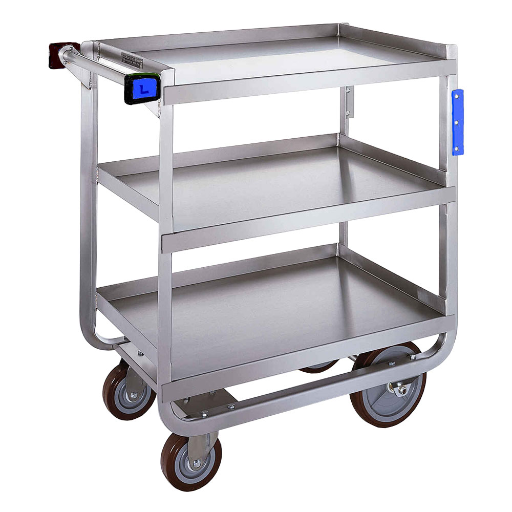 Lakeside 722 Utility Cart w/ Push Handle & (3) 18 x 27-in Shelves, 700-lb Capacity