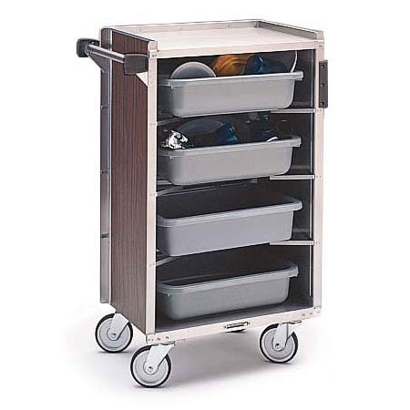 Lakeside 890 WAL Enclosed Bus Cart w/ (4) 16 x 22-in Shelves, 500-