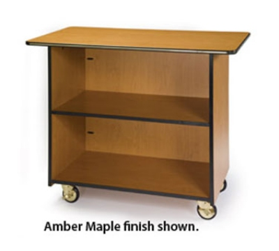 Lakeside 67100 45.5-in Enclosed Wood Composite Service Cart w/ Fixed Shelf