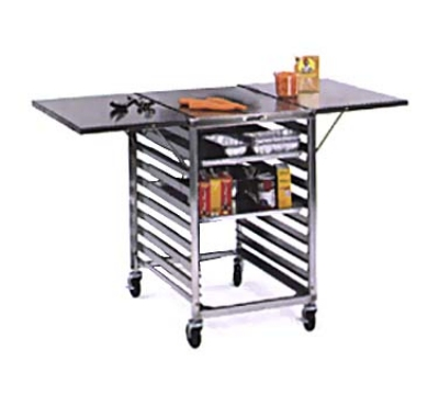 Lakeside 110 Portable Table Wing w/ Channel Ledge For (19) 18 x 26-in Sheet Pans