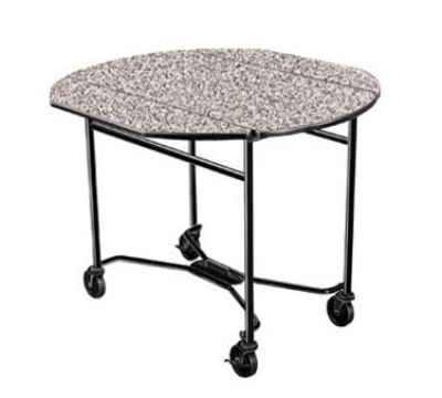 Lakeside 412 GRSAN 40-in Round Drop-Leaf Room Service Table, Gray Sand