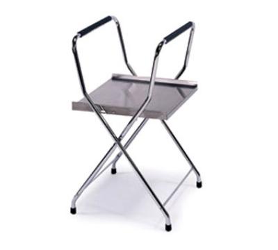 Lakeside 677 18.5-in Heavy Duty Folding Tray Stand w/ Storage Shelf