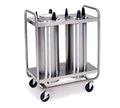 Lakeside 7206 6.5-in Mobile Dish Dispenser w/ 2-Self-Leveling Tubes, Stainless
