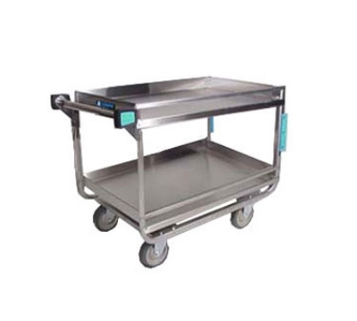 Lakeside 729 Utility Cart w/ (2) 21 x 33-in Shelves, Guard Rails, 700-lb