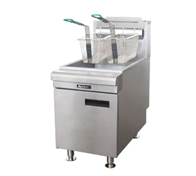 Adcraft CTF-75/NG Countertop Fryer w/ 50-lb Capacity & 3-Burners, Stainless