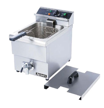 Adcraft DF-12L Countertop Fryer w/ Faucet & 1-Pot, 25-lb/hr Capacity, Stainless
