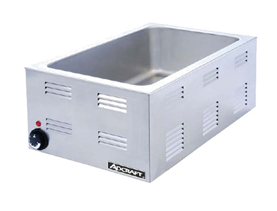 Adcraft FW-1200W Countertop Food Warmer w/ Base Only & 6.5-in Deep Well, Stainless