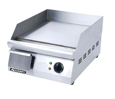 Adcraft GRID-16 Countertop Griddle w/ 15.5x16-in Flat Surface & Collection Pan, Stainless