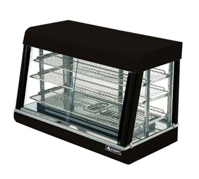 Adcraft HD-36 Countertop Heated Display Case w/ Front & Rear Sliding Doors, 35.5x20.5x24-in