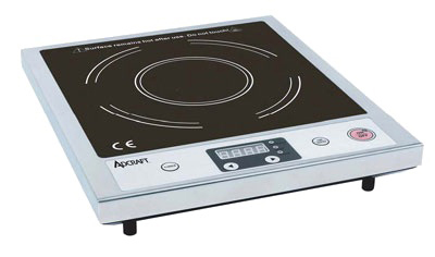 Adcraft IND-A120V Countertop Slim Induction Cooker w/ Auto Shut-Off & Glass Top, Stainless