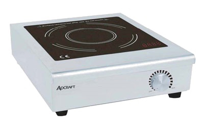 Adcraft IND-C120V Countertop Induction Cooker w/ Manual Controls & Auto Shut-Off, Stainless, 120V
