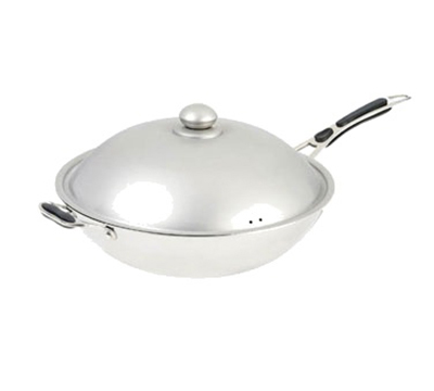 Adcraft IND-WOK Induction Wok w/ Cover, Stainless