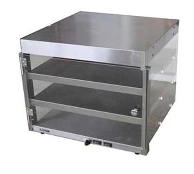 Adcraft PW-16 Countertop Pizza Merchandiser w/ 3-Pizza Capacity, 19x19x20.5-in, Stainless