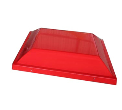Adcraft PW-16/TOP Plastic Merchandiser Top w/ Graphic Signs, 19x19x20.5-in, Red