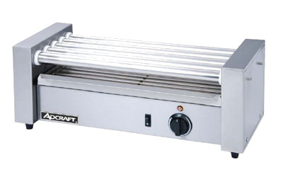 Adcraft RG-05 12 Hot Dog Roller Grill - Flat Top, 120v
