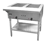 Adcraft ST-1202 Steam Table - 2-Wells, Cutting Board, Infinite Controls, Stainless