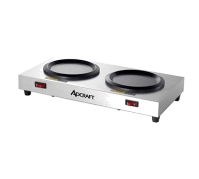 Adcraft WP-2 Side-by-Side Coffee Warmer Plate w/ 2-Stations, Stainless Body