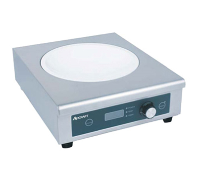 Adcraft IND-WOK120V Countertop Induction Wok w/ Glass Top & Auto Shut-Off, Stainless, 120V