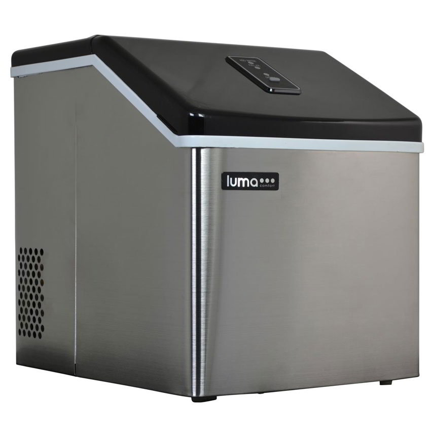 Luma Comfort IM200SS Portable Clear Ice Maker w/ 28-lbs/24-hr Capacity, LED Control Panel