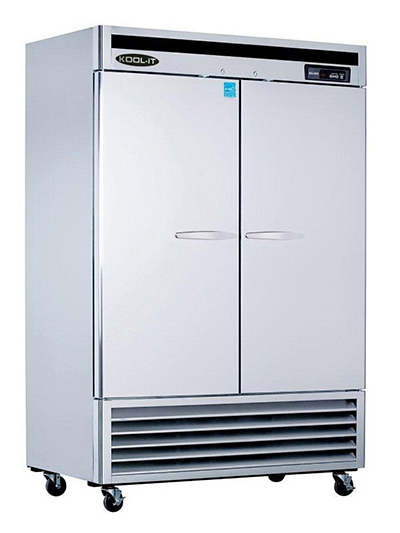 Kool-It KBSF-2 Reach-In Freezer w/ 2-Sections & 6-Shelves, Bottom Compressor, 49-cu ft