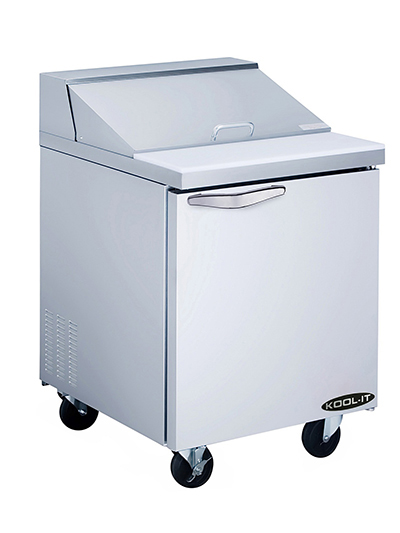 Kool-It KST-27-1 27-in Sandwich Prep Unit w/ 1-Section & 1-Shelf, Stainless, 7-cu ft