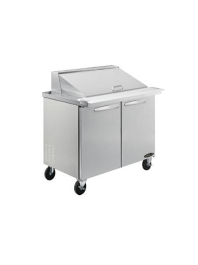 "Kool-It KSTM-27-1 27.5"" Sandwich/Salad Prep Table w/ Refrigerated Base, 115v"