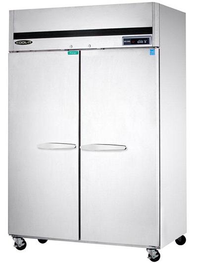Kool-It KTSF-2 Reach-In Freezer w/ 2-Sections & 6-Shelves, Top Compressor, 49-cu ft