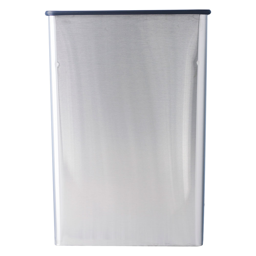 Witt Industries 70SS Indoor Rectangular Trash Can w/ 22-Gallon Capacity, Stainless