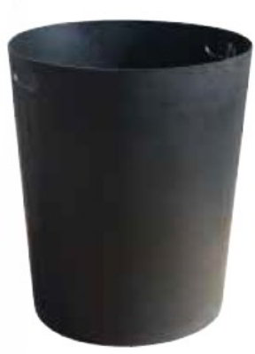 Witt Industries SMB32L Round Outdoor Trash Can Liner w/ 32-Gallon Capacity, Black P