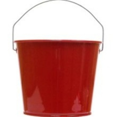 Witt Industries W5PCCAR 5-qt Outdoor Pail w/ Attached Bail, Candy Apple Red