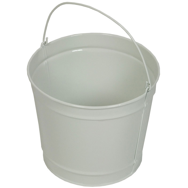 Witt Industries W5PCGW 5-qt Outdoor Pail w/ Attached Bail, Gloss Whit