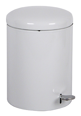 Witt Industries 2240WH 4-Gallon Indoor Step On Trash Can w/ Galvanized Liner, White