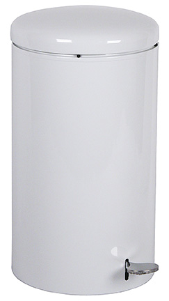 Witt Industries 2270WH 7-Gallon Indoor Step On Trash Can w/ Galvanized Liner, White