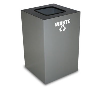 Witt Industries 24GC03-SL 24-Gallon Indoor Recycling Container w/ Square Opening, Slate