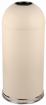 Witt Industries 415DTAL 15-Gallon Standard Indoor Trash Can w/ Dome Top Lid, Almond Finish